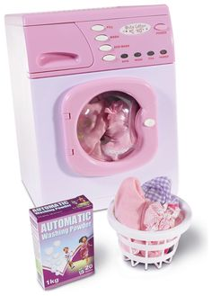 Buy Casdon Toy Electronic Washing Machine - Pink at Argos. Little Girl Toys, Cool Toys For Girls, Baby Toys, Kids Toys, Elliev Toys, Pink Dresses For Kids, Pink Kids, Princess Toys, Princess Style