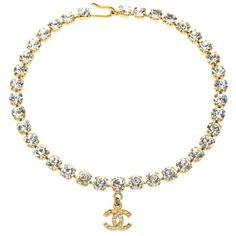 Chanel Rhinestone Choker with CC - Schmuck - - Chanel Necklace, Chanel Jewelry, Watch Necklace, Luxury Jewelry, Jewelery, Fashion Jewelry, Fashion Necklace, Gothic Jewelry, Gothic Fashion