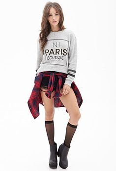Paris Boutique Sweatshirt | FOREVER21 - 2000137129