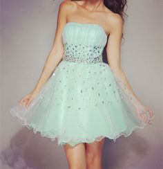 Amazing A-line Strapless Mini Rhinestone Cocktail Dress