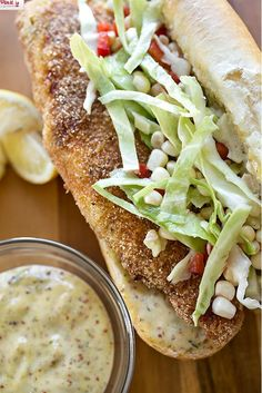 Cornmeal-Crusted Fish Sandwich w/ Cool Creole Mayo, from www.TheCozyApron.com. Just imagine the crisp crunch of a perfectly battered fish sandwich…mmm. To kick this recipe up a notch, use that oh-so-delicious Hellmann's Mayonnaise!