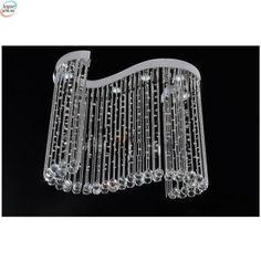 Luksuriøs Krystall Taklampe - bølget Chandelier, Ceiling Lights, Lighting, Crystals, Home Decor, Candelabra, Decoration Home, Room Decor, Chandeliers