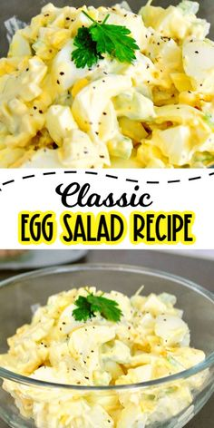 May 2020 - This classic egg salad recipe is delicious and easy to make. Great on crackers, in a sandwich or as a salad, it is a perfect lunch idea too! Yummy Pasta Recipes, Healthy Salad Recipes, Side Dish Recipes, Lunch Recipes, Dinner Recipes, Healthy Egg Salad, Easy Egg Recipes, Vegan Recipes, Party Recipes