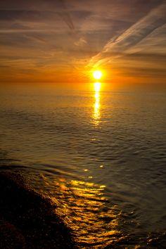 sunset, Grand Marais Michigan #AmericaBound @Sheila S.P. S.P. Collette Farm