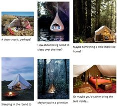 Which tent would you choose?