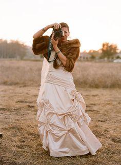 Vintage Fusion Wedding of Elizabeth Messina - Dress, Brown, Bride Winter Wedding Bridesmaids, Wedding Fur, Wedding Book, Wedding Shawls, Wedding Dresses, Vintage Fur, Vintage Bridal, Vintage Glamour, Brown Fur Coat