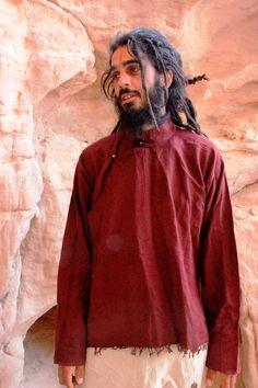 Rohbaumwolle Hanf mix tibetischen Shirt  von PrimitiveTribalCraft
