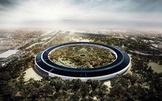 "Steve Jobs called Apple's Norman Foster-designed future headquarters (pictured here) ""the best office building in the world."""