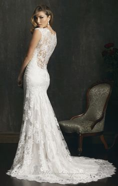 Allure 9068 by Allure, back of the dress Debra's Bridal Shop at the Avenues 9365 Philips Hwy Jacksonville Fl 32256  904-519-9900