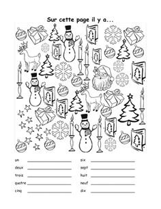 French Christmas vocab sheet, includes practice with numbers as well. Joyeux Noel