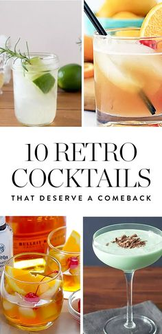These delicious retro cocktails are totally due for a resurgence. Here's how to make them at home this weekend.