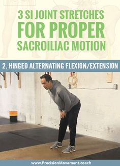 3 SI Joint Stretches For Proper Sacroiliac Motion Si Joint Pain, Hip Pain, Rheumatoid Arthritis Treatment, Arthritis Remedies, Lower Back Pain Relief, Back Exercises, Stretches, Hip Workout, Health