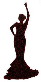 Resultado de imagen de silueta de flamenca