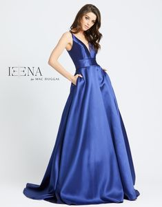 Ieena Duggal - Sleek Plunging V-Neck Gown Pagent Dresses, Pageant Dresses For Teens, Sparkly Prom Dresses, Strapless Prom Dresses, Prom Dresses Two Piece, Purple Bridesmaid Dresses, Formal Dresses For Teens, Party Dresses For Women, Club Dresses