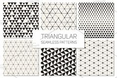 Triangular Seamless Patterns Set 3 by Curly_Pat on @creativemarket