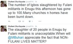100 persons feared killed in suspected Fulani attack on Enugu community