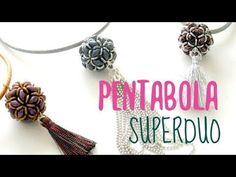 Superduo beaded bead pendant ~ Seed Bead Tutorails