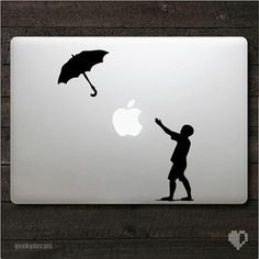Banksy Umbrella guy Macbook Decal by geekydecals on Etsy, $6.50