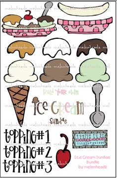 Lots of possibilities here! Matching words on the cone to pictures on the ice cream!