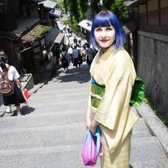 Today was the last day in Kyoto. Wore my new gold yellow silk kimono I found in Nara yesterday 今日は京都の最後の日でした。奈良で見つかったゴールド色の着物で遊び✨
