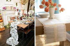 Caminos de mesa: fotos ideas creativas - Caminos de mesa diseños
