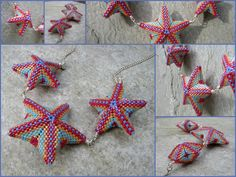 Another Jean Power  pattern I had some fun with...    these stars are so much fun to make
