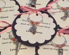 Custom Wine Themed Wine Charm Favors Weddings by FromAppalachia