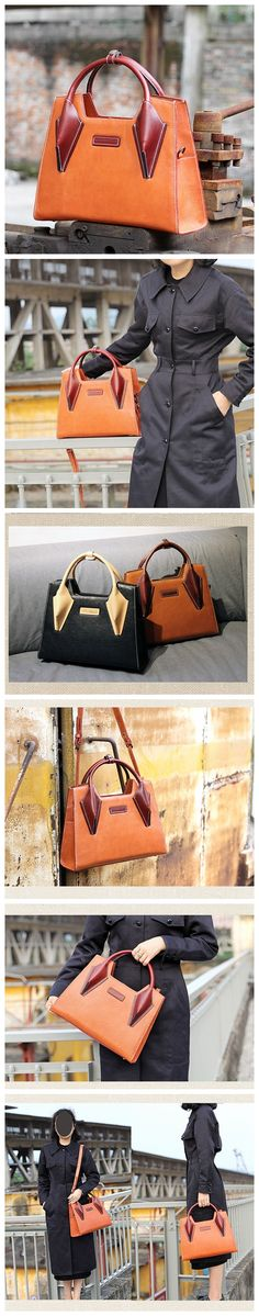 LISABAG--Handmade modern fashion leather tote bag messenger shoulder bag handbag for women lady AK02