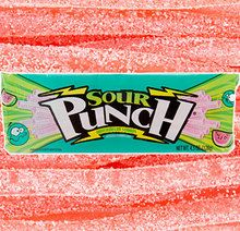Watermelon Sour Punch Candy Straws 2 Oz Packs - 24 CT. Case