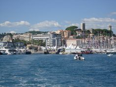 Cannes - from the boat on our way to Ile St Marguerite