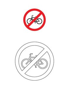 Cycles prohibited traffic sign coloring page Art Attak, American Heritage Girls, Preschool Lesson Plans, Art N Craft, Traffic Light, Life Skills, Lululemon Logo, Art For Kids, Coloring Pages