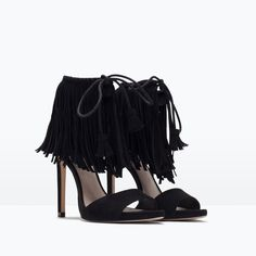 FRINGED HIGH HEEL SANDALS-Sandals-Shoes-WOMAN | ZARA United States