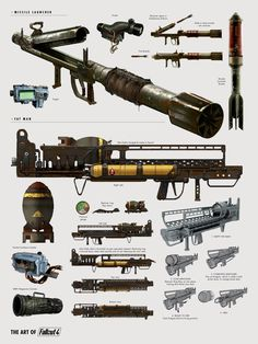 The Art of Fallout 4 - Missel Launcher and Fat Man