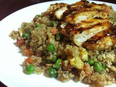 """Quinoa Fried """"Rice"""" & Teriyaki Chicken"""