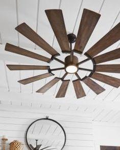 Windmill Ceiling Fan, Dc Ceiling Fan, Large Ceiling Fans, Outdoor Ceiling Fans, Outdoor Fans, Farmhouse Ceiling Fans, Rustic Ceiling Fans, Family Room Lighting, Living Room Lighting