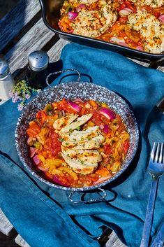 Olívás stangli | Street Kitchen Green Kitchen, Biryani, Paella, Tofu, Feta, Hamburger, Curry, Ethnic Recipes, Street
