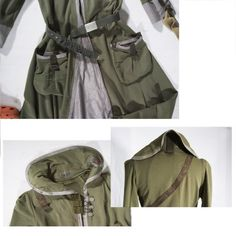 Khaki Green Tea Party  Coat and Dress all in one  by lummedesigns, €525.00