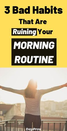In the morning you're supposed to prepare for an upcoming day. In this article, you discover 3 worst morning habits that can ruin your day. Healthy Morning Routine, Morning Habits, Bad Morning, Morning Person, Famous Failures, Habits Of Successful People, Attitude Of Gratitude, Meditation Practices, Self Motivation