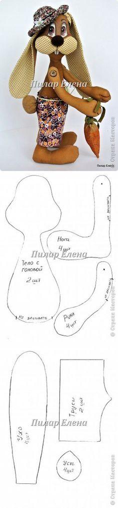 Копилка рукодельных идей и мк: Кролик Фока  ... ♥ Deniz ♥