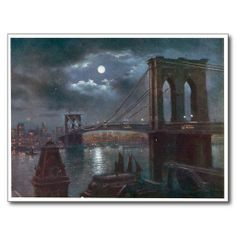 Brooklyn Bridge by Moonlight Post Card so please read the important details before your purchasing anyway here is the best buyHow to          	Brooklyn Bridge by Moonlight Post Card lowest price Fast Shipping and save your money Now!!...