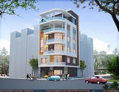 Thiết kế nhà 6 tầng đẹp Modern Family House, Modern House Design, School Architecture, Architecture Design, 2bhk House Plan, House Map, House Elevation, Modern Exterior, Apartment Design
