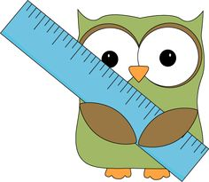 Owl with Ruler Clip Art - Owl with Ruler Image
