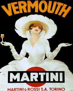 Vermouth - Martini (artist: Dudovich) Austria c. 1920 - Vintage Poster (Art Print Available) Poster Art, Retro Poster, Kunst Poster, Poster Prints, Art Prints, Art Posters, Posters Vintage, Vintage Advertising Posters, Vintage Advertisements