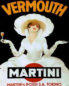 """Marcello Dudovich """"Martini rossi torino"""