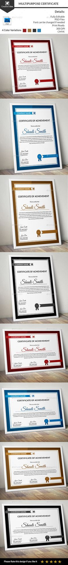 Elegant certificate template docx by inkpower on creativemarket elegant certificate template docx by inkpower on creativemarket stationery pinterest yelopaper
