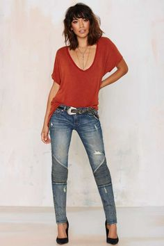Cult of Individuality Roadside Attraction Moto Jean - Light Wash | Shop Clothes at Nasty Gal!