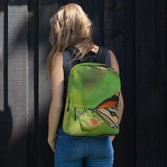 This medium size backpack is just what you need for daily use or sports activities! The pockets (including one for your laptop) give plenty of room for all your necessities, while the water-resistant material will protect them from the weather. Fashion Backpack, I Shop, Butterfly, Backpacks, Trending Outfits, Bags, Shopping, Handbags, Backpack