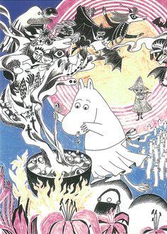 "klara-fina-gulleborg: "" Moomin by Tove Jansson "" Art And Illustration, Kawaii, Tove Jansson, Hobbit, Detective, Childrens Books, Fairy Tales, Artsy, Sketches"