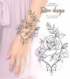 Flower Rose Tattoo Design Available Dotwork Tattoo Mandala, Mandala Tattoo Sleeve, Mandala Tattoo Design, Flower Tattoo Designs, Floral Mandala Tattoo, Flower Tattoo Stencils, Flower Tattoo Hand, Mandala Rose, Floral Tattoo Design