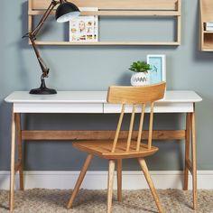 Radius Desk White 2-Drawer | Meadows & Byrne